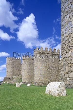 11th century walls of vila spain