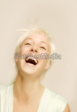 joyful lady