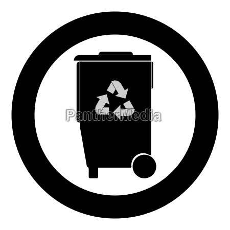 refuse bin with arrows utilization the