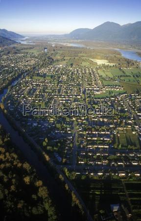 aerial photo of residential british columbia