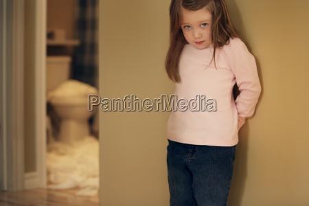 child feeling guilty for toilet paper