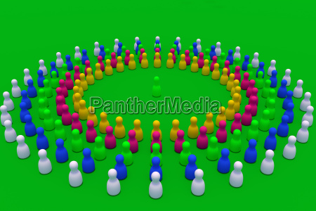 3d rendering of circles of colorful