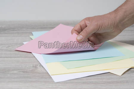 empty colored sheet