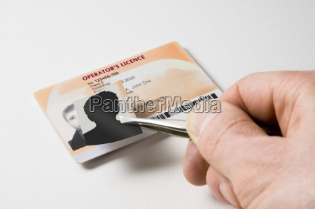 making a false id card