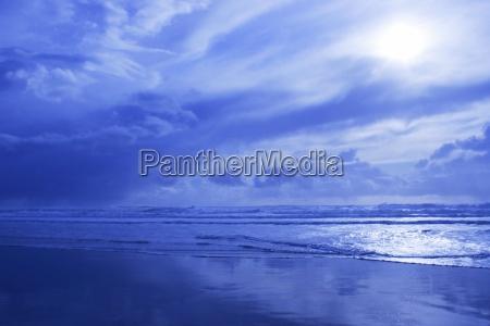blue waterscape