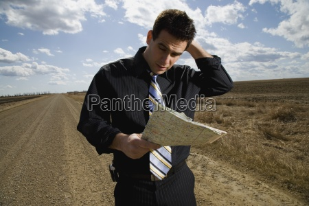 lost businessman