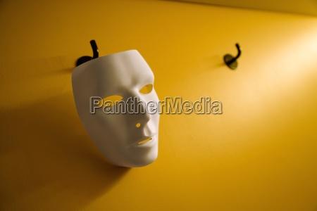 face mask on hanger