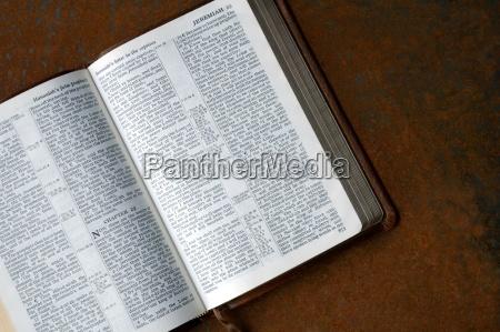 bible open to jeremiah