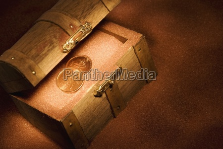 treasure chest in the sand with