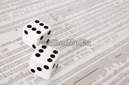 dice on the stock market section