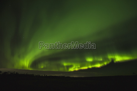 a spiral of northern lightsalberta canada