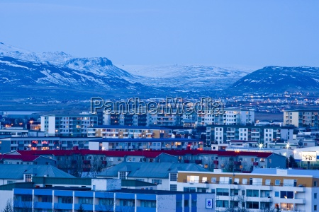 downtown reykjavik from perlan viewpoint worlds