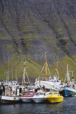 fishing vessels port of isafjordur west
