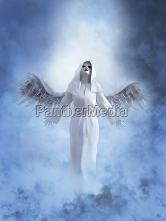 3d rendering of a white angel
