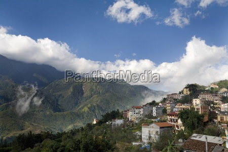 the picturesque village of sapa in