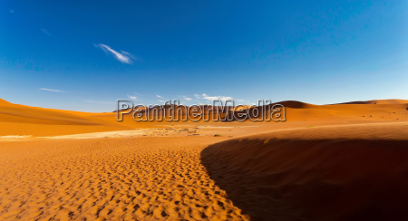 evening landscape in sossusvlei namibia