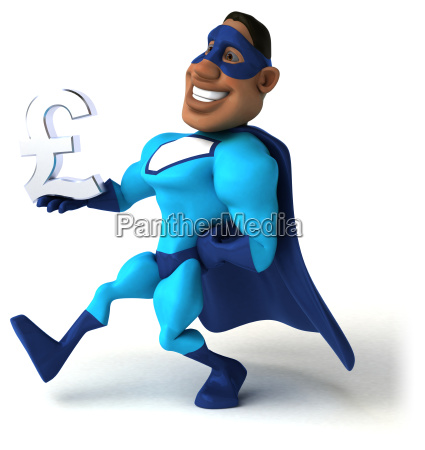 fun superhero 3d illustration