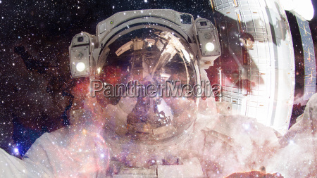astronaut in outer space elements of