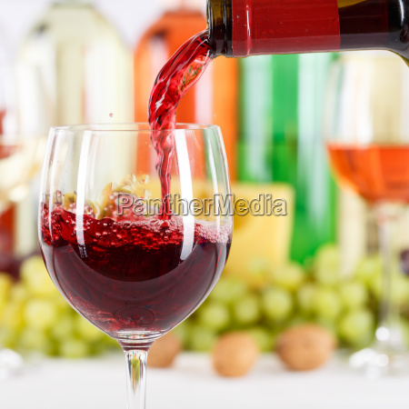 pour wine pour from wine bottle