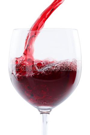 per wine pour in portrait red