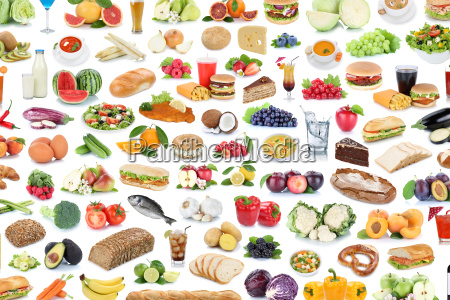 collection collage food healthy nutrition fruits