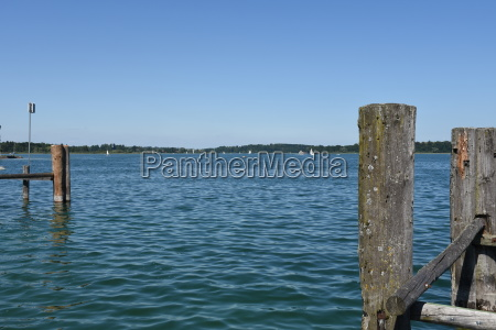 chiemsee prien boat dock jetty slope