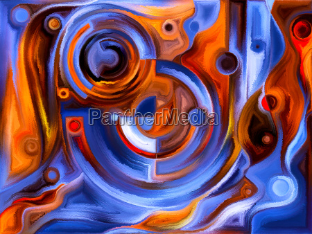 stained glass abstract pattern