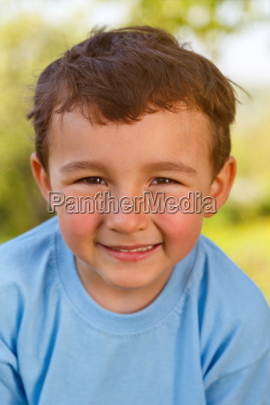 child young boy portrait face laugh