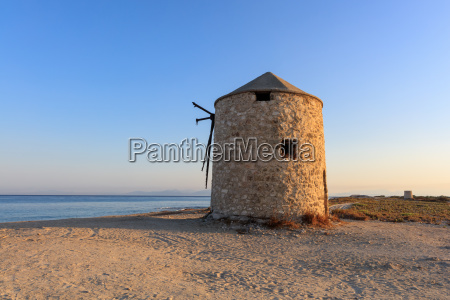 old windmill lefkada greece