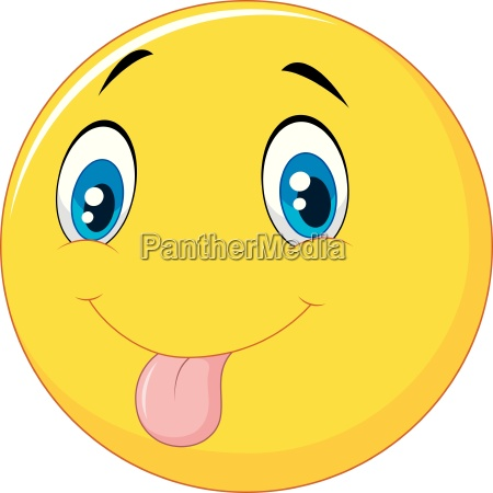 playful emoticon smiley jokingly stuck out