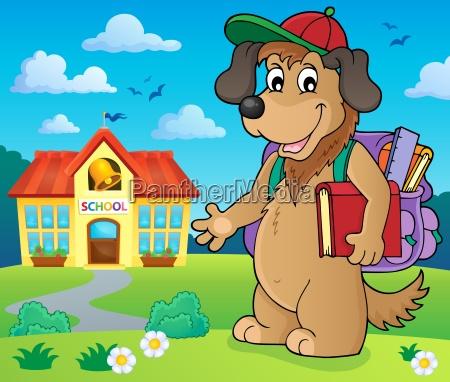school dog theme image 2