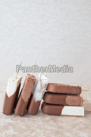 ice cream on the stalk with