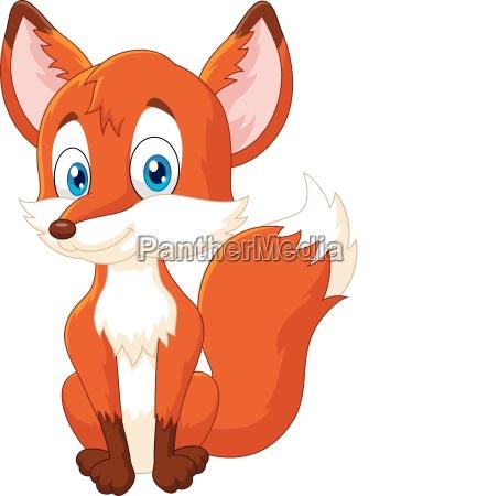 cartoon animal fox illustration