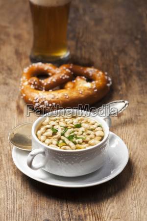 portion of bavarian bratnockerl soup
