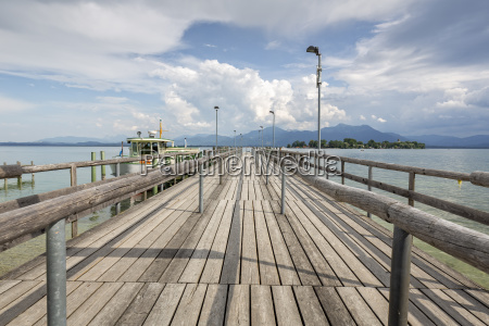 steg at lake chiemsee overlooking womens