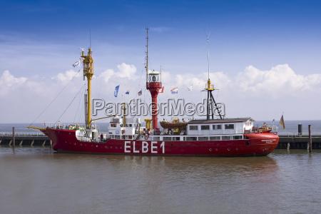 lightship elbe1 cuxhaven lower saxony germany