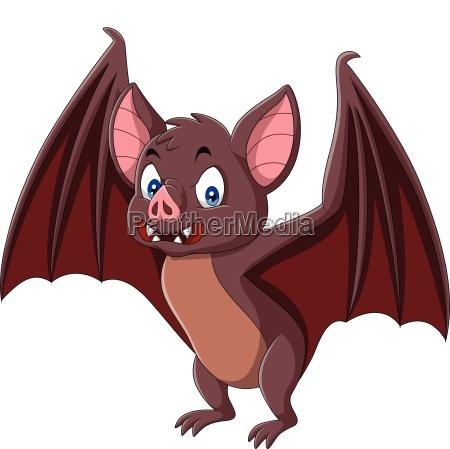 cartoon bat isolated on white background