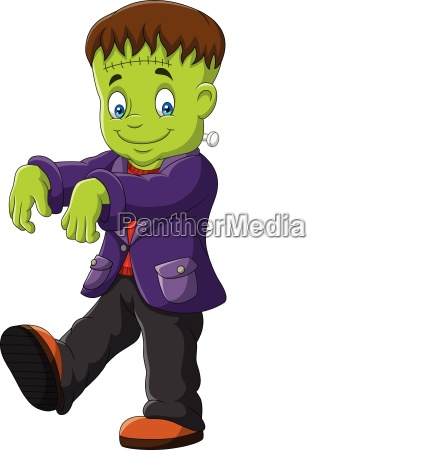 cartoon halloween monster isolated on white