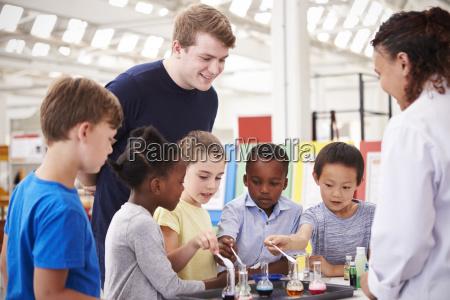 school kids taking part in a