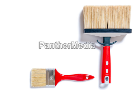 professional house painter work tools on