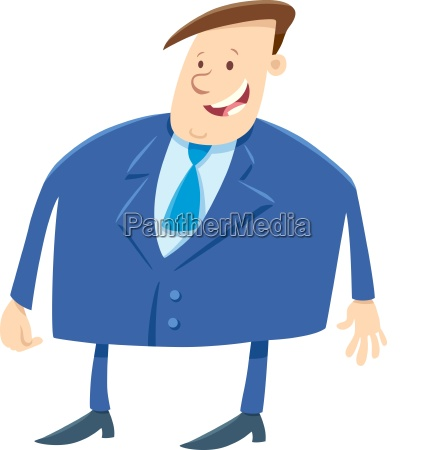 businessman or boss cartoon character