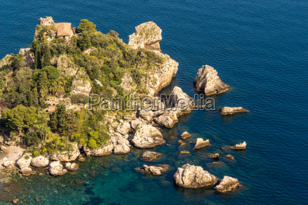 sicily aerial view of isola bellas