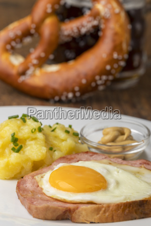 leberkaese with potato salad