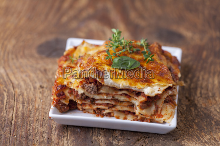 close up of a lasagna