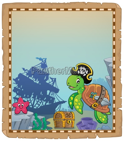 pirate turtle theme parchment 1