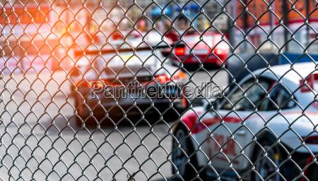 motor sport car racing on asphalt