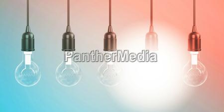 row of hanging lightbulbs