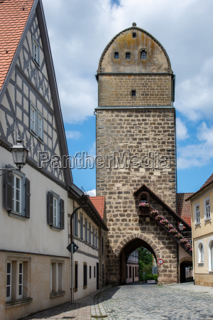 historic city gate of sesslach