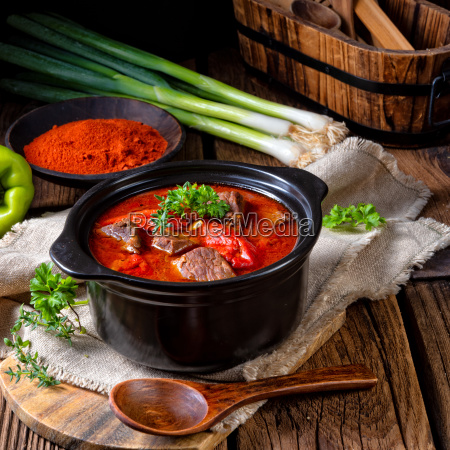 a real hungarian goulash with beef