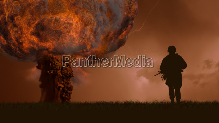 nuclear explosion of a bomb and
